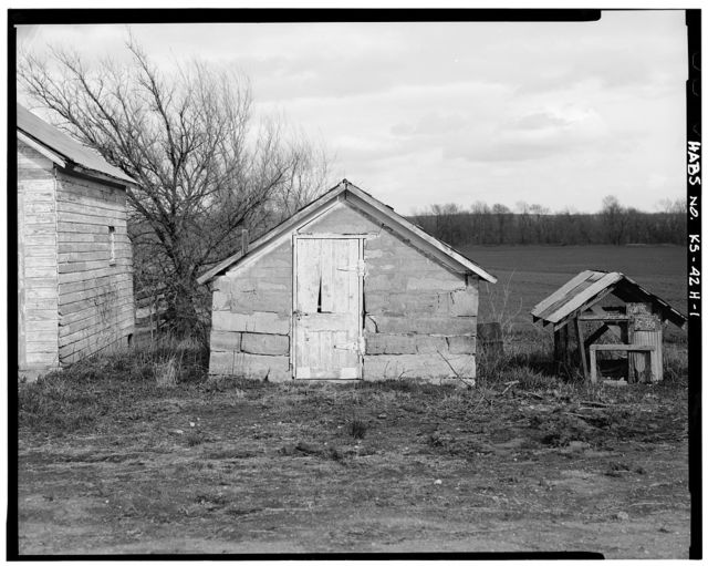 Kandt-Domann Farmstead, Smokehouse, State Route 3, Hope, Dickinson County, KS