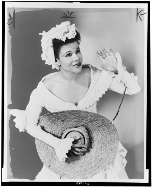 Katherine Dunham in costume for Tropical Revue (1945), at New York's Century Theatre