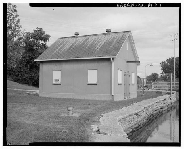 Kaukauna Lock & Dam, Storage Building-Boathouse at Lock 1, Approximately 30 feet Northwest of Lock, Kaukauna, Outagamie County, WI