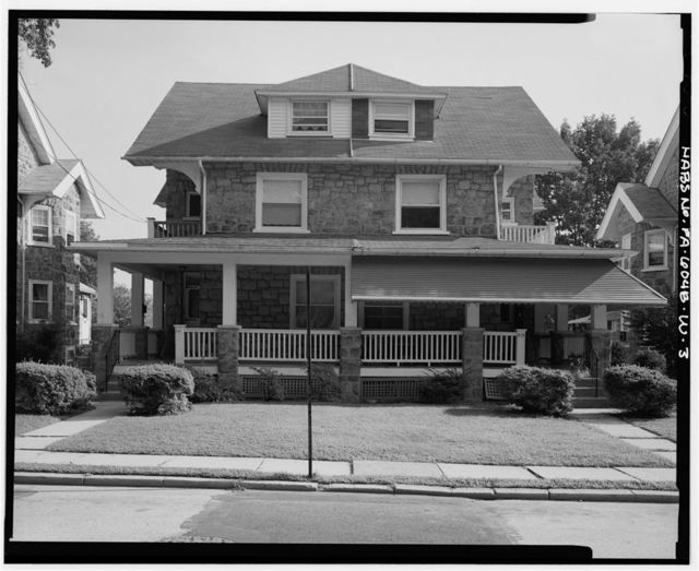 Keasbey & Mattison Company, 2 1/2 Story Double House, Side Gable Roof Type, 212-218 Mattison Avenue, Ambler, Montgomery County, PA