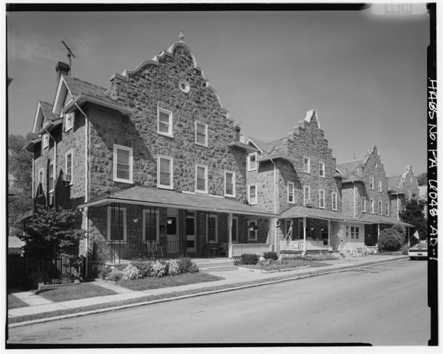 Keasbey & Mattison Company, Three-Story Double House, Parapeted Gable Roof Type, 312-314 Randolph Avenue, Ambler, Montgomery County, PA