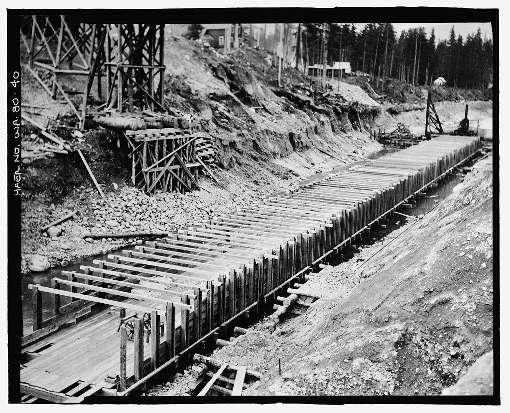 Keechelus Dam, Yakima River, 10 miles northwest of Easton