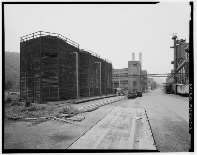 Kelly-Springfield Tire Plant, Cooling Tower, 701 Kelly Road, Cumberland, Allegany County, MD
