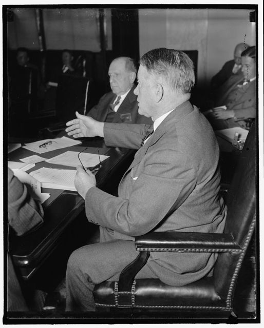 Kentucky Senator. Washington, D.C., May 11. U.S. Senator Alben W. Barkley, Democrat from Kentucky, pictured at the Capitol today, 5/11/37