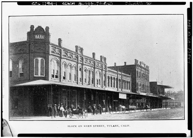 Kern Street (Commercial Buildings), Tulare, Tulare County, CA