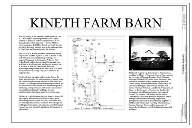 Kineth Farm, Barn, 19162 STATE ROUTE 20, Coupeville, Island County, WA