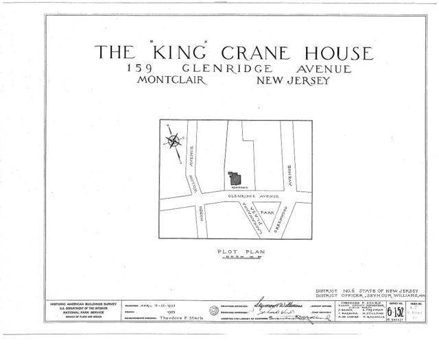 King Crane House, 159 Glenridge Avenue, Montclair, Essex County, NJ