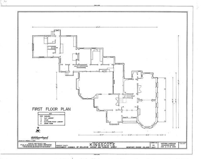 Kingscote, Bellevue Avenue & Bowery Street, Newport, Newport County, RI