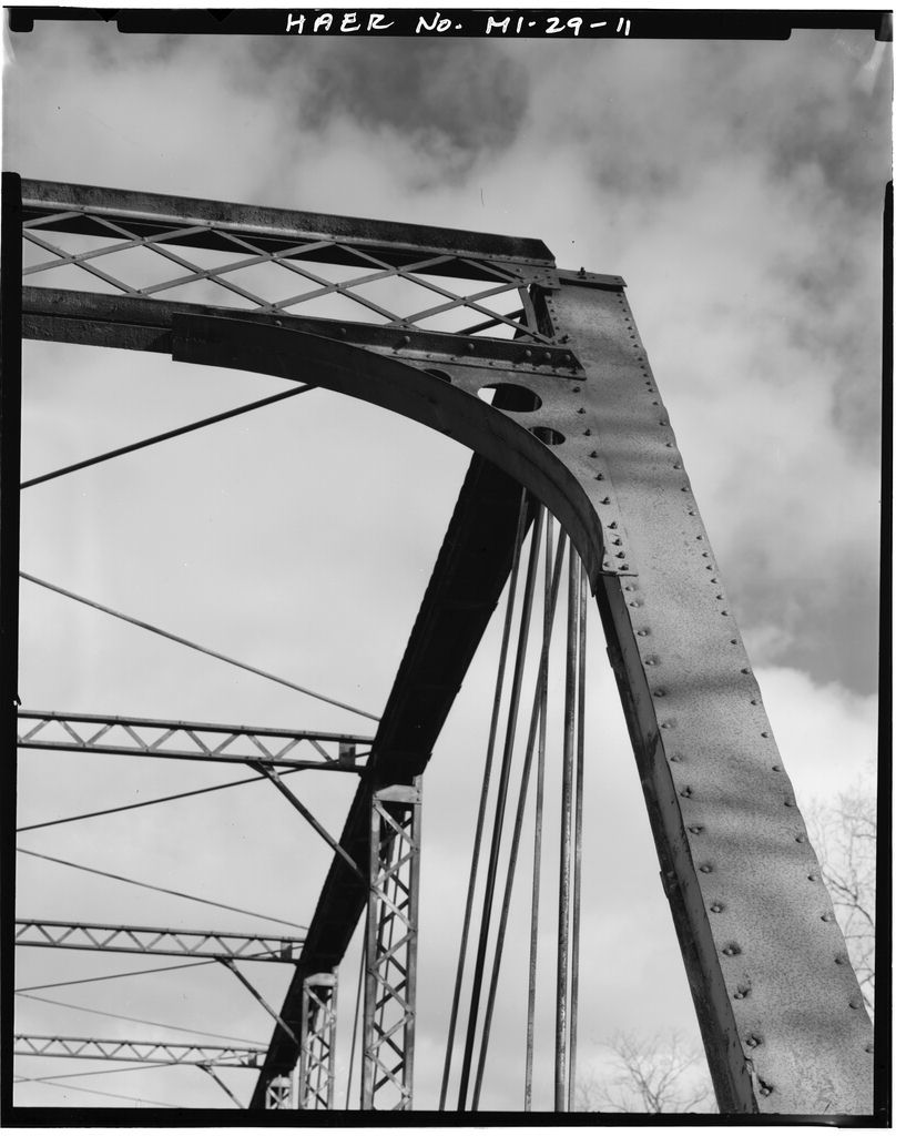 Knaggs Bridge, Spanning Shiawassee River on Cole Road, Bancroft, Shiawassee County, MI