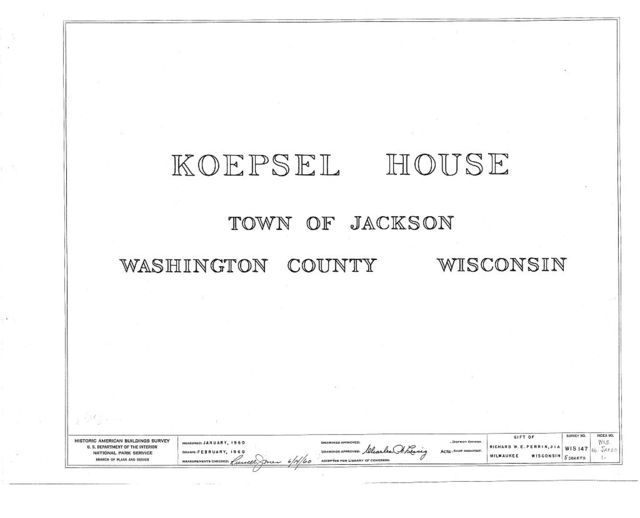 Koepsel House, Jackson, Washington County, WI