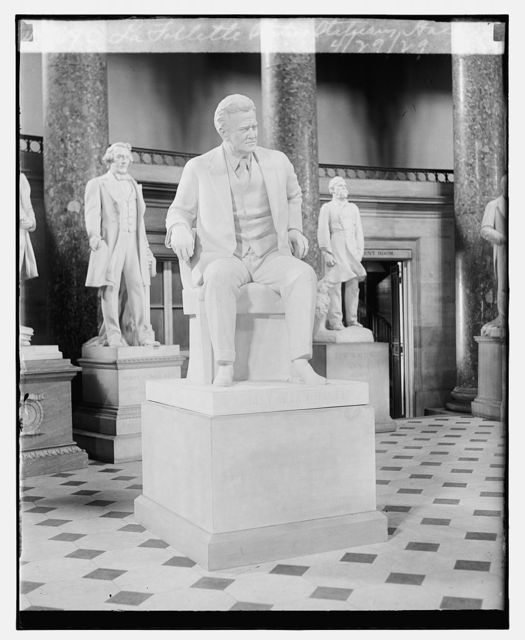 La Follette Statue, Statuary Hall, 4/29/29