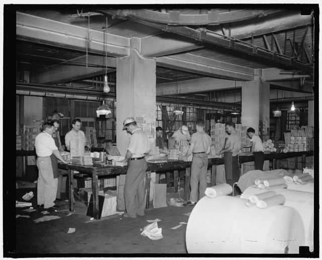 Labor paper mail room, 10 Indep. Ave., S.W.