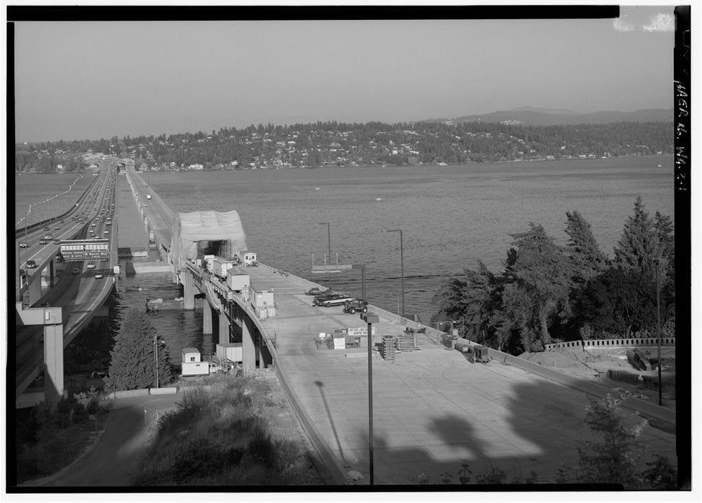 Lacey V. Murrow Memorial Floating Bridge, Spanning Lake Washington at I-90, Seattle, King County, WA
