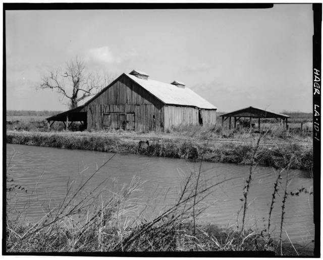 Laurel Valley Sugar Plantation, Corn Crib, 2 miles South of Thibodaux on State Route 308, Thibodaux, Lafourche Parish, LA