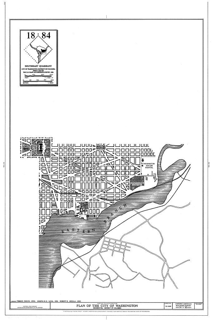 L'Enfant-McMillan Plan of Washington, DC, Washington, District of Columbia, DC