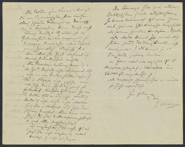[Letter, 1874] Febr., [to Levi]
