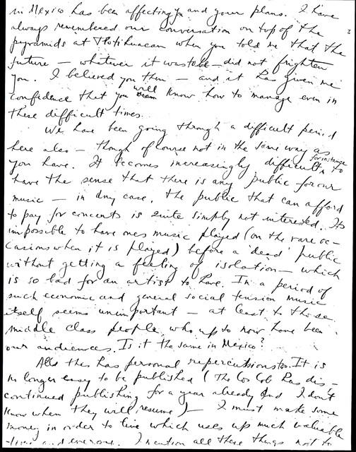 Letter from Aaron Copland to Carlos Chávez, August 28, 1935.