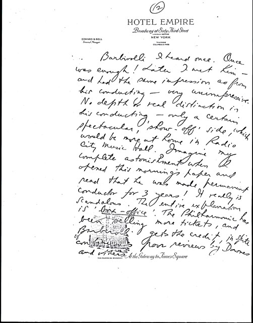 Letter from Aaron Copland to Carlos Chávez, December 11, 1936.