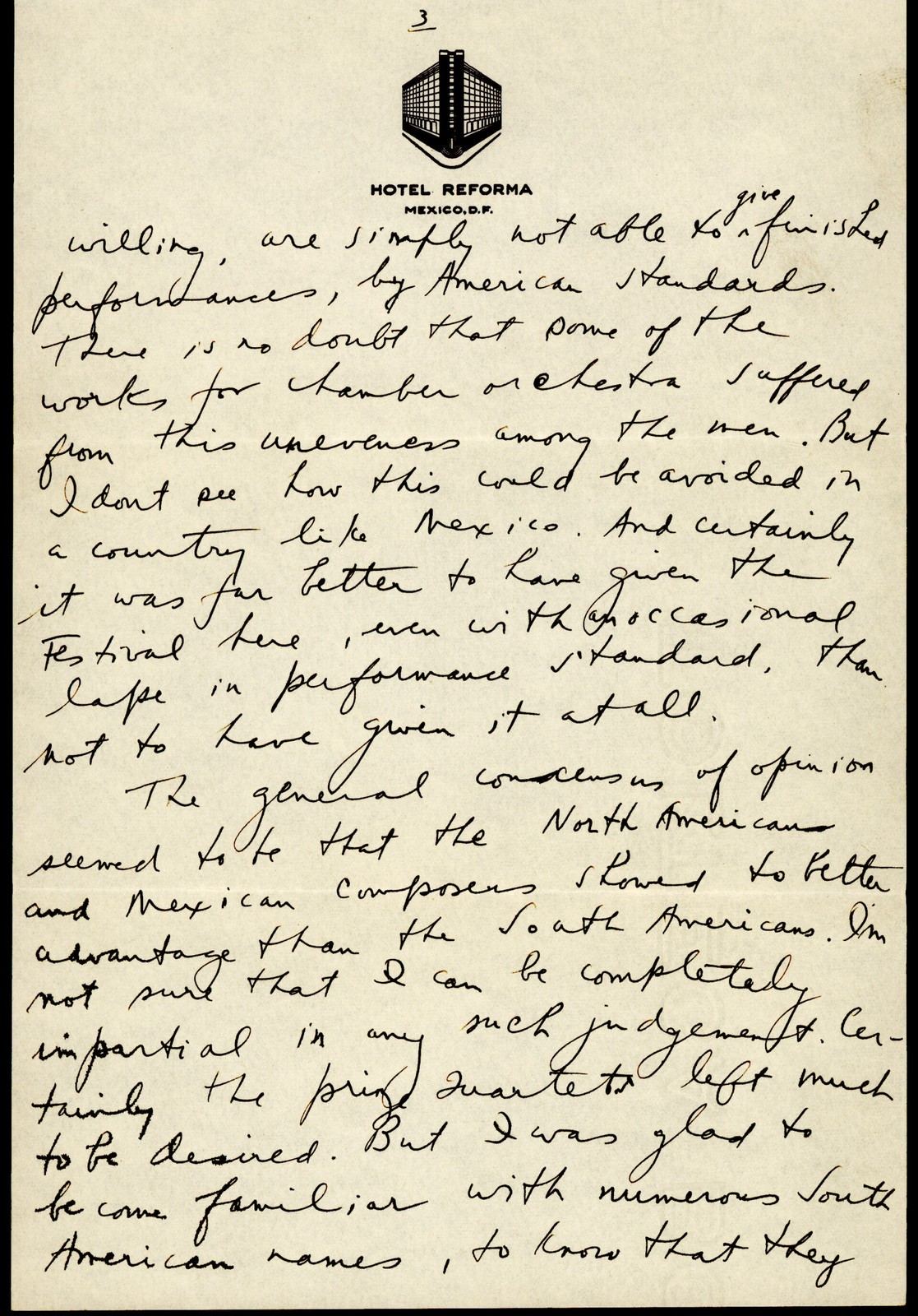 Letter from Aaron Copland to Elizabeth Sprague Coolidge, July 26, 1937.