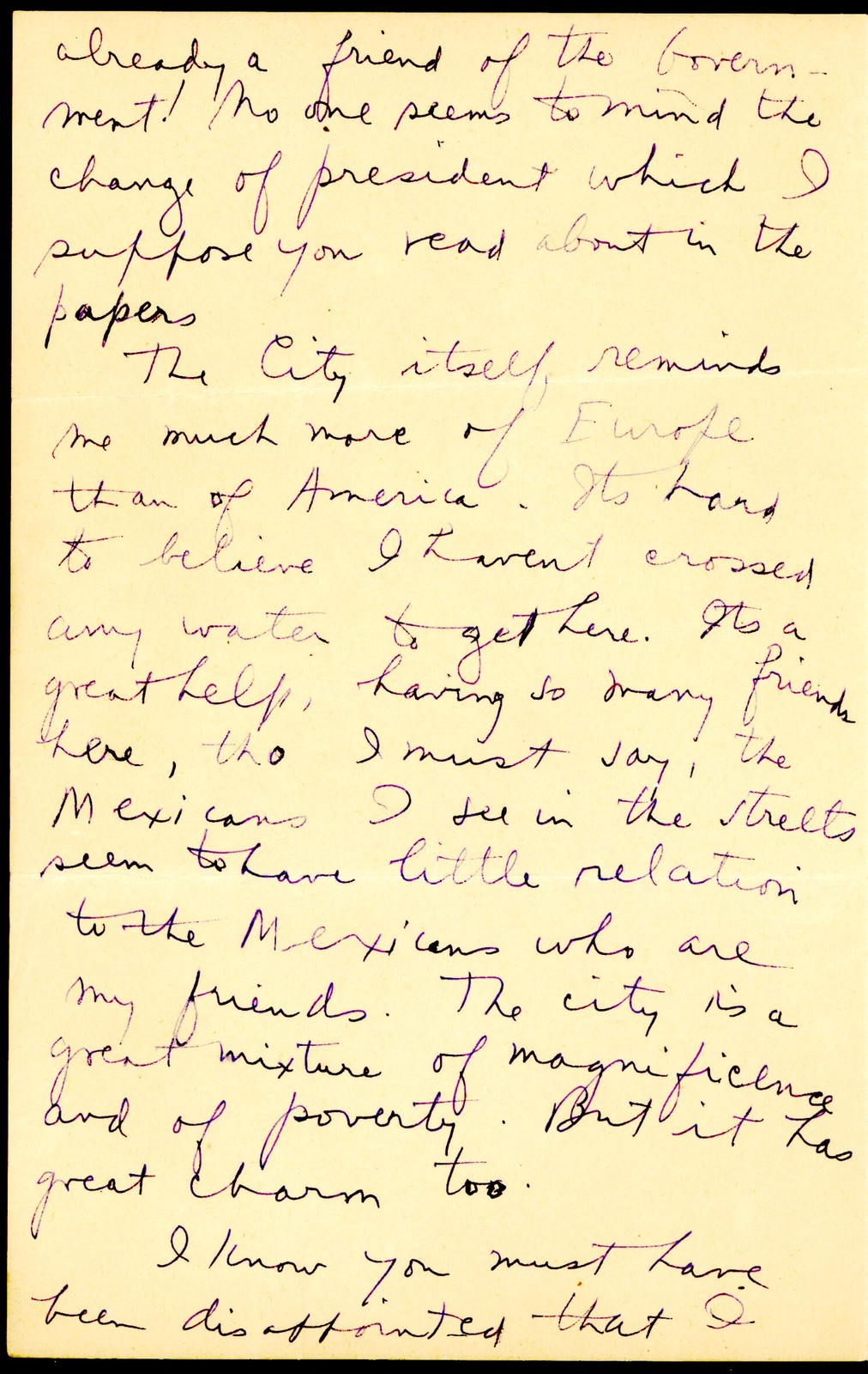 Letter from Aaron Copland to his parents, September 3, 1932.