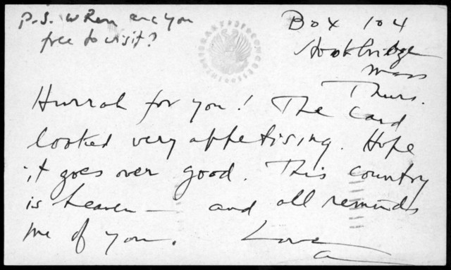 Letter from Aaron Copland to Leonard Bernstein, 1942