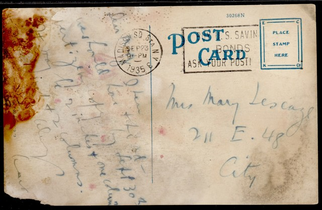 Letter from Aaron Copland to Mary Lescaze, September 23, 1935.