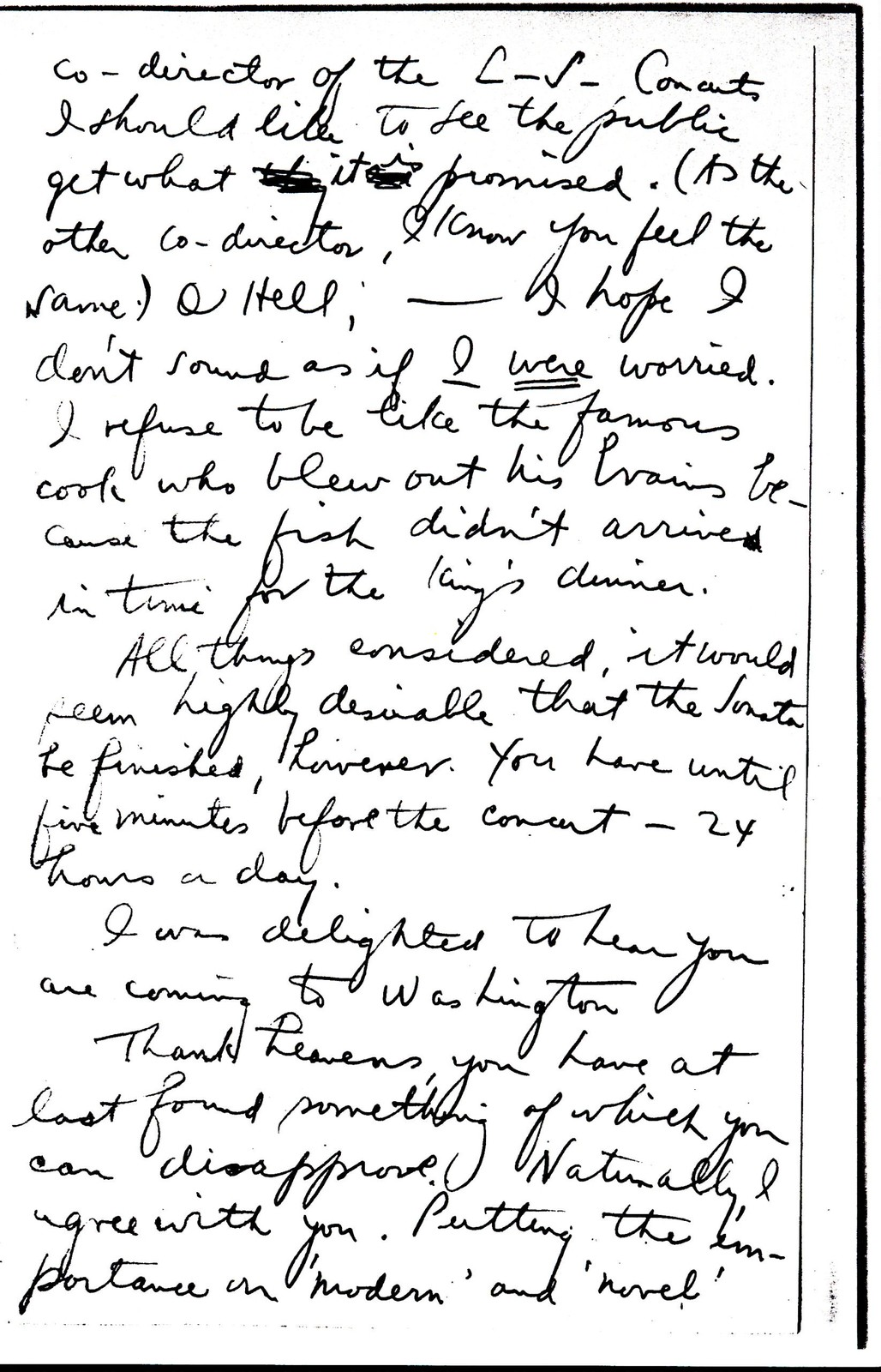 Letter from Aaron Copland to Roger Sessions, 1929.