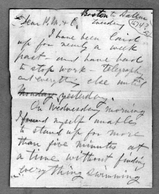 Letter from Alexander Graham Bell to Alexander Melville Bell, undated
