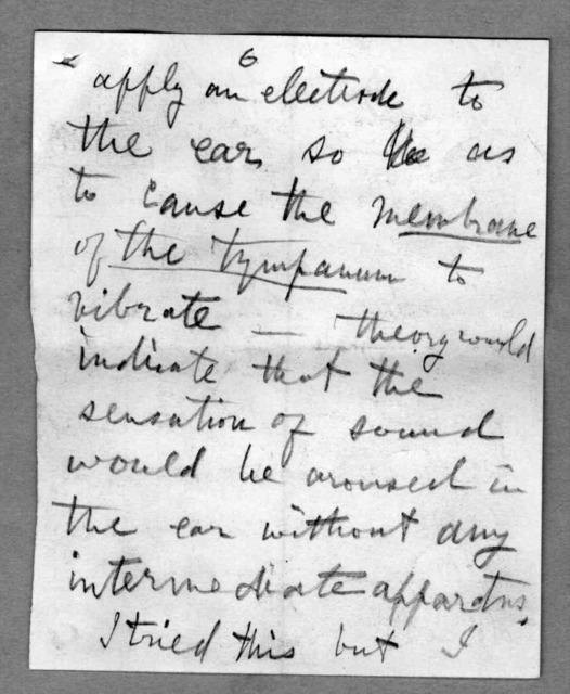 Letter from Alexander Graham Bell to Alexander Melville Bell, undated