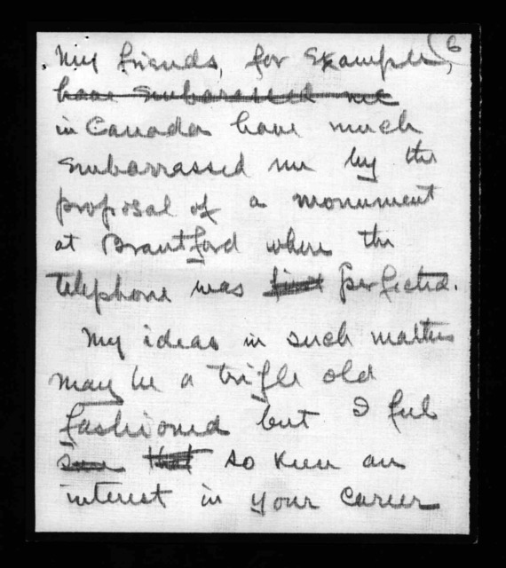 Letter from Alexander Graham Bell to Glenn H. Curtiss, undated
