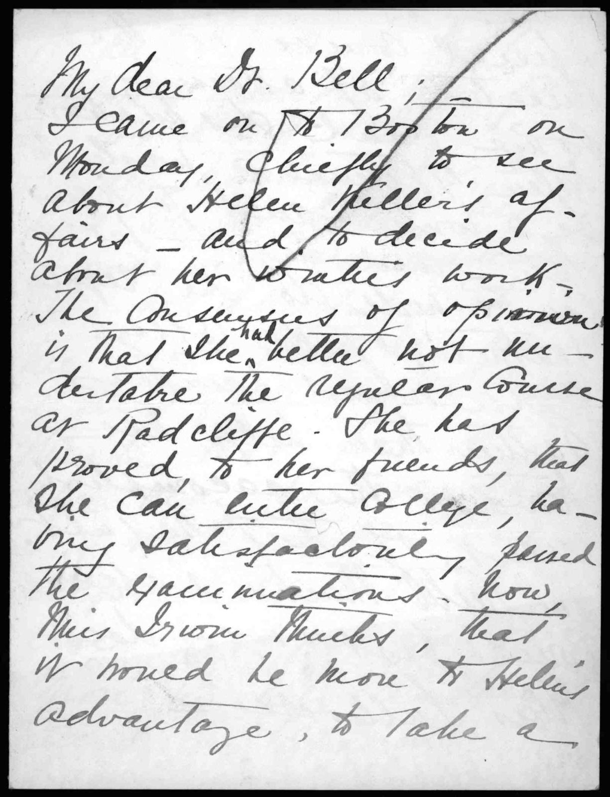 Letter from Eleanor V. Hutton to Alexander Graham Bell, September 21
