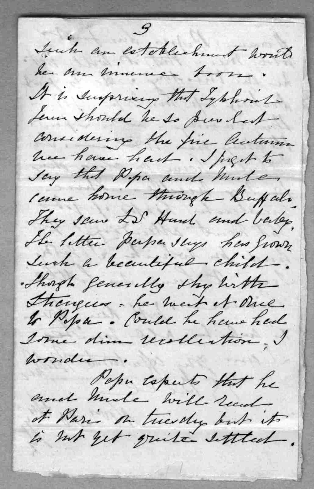 Letter from Eliza Symonds Bell to Alexander Graham Bell, undated
