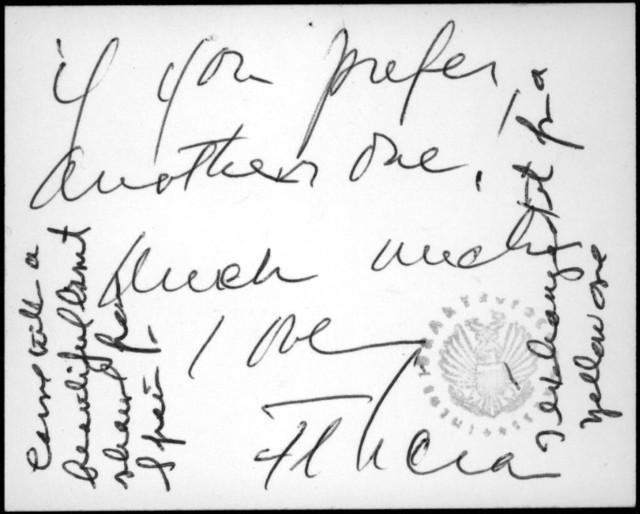 Letter from Felicia Bernstein to Helen Coates, December 1972