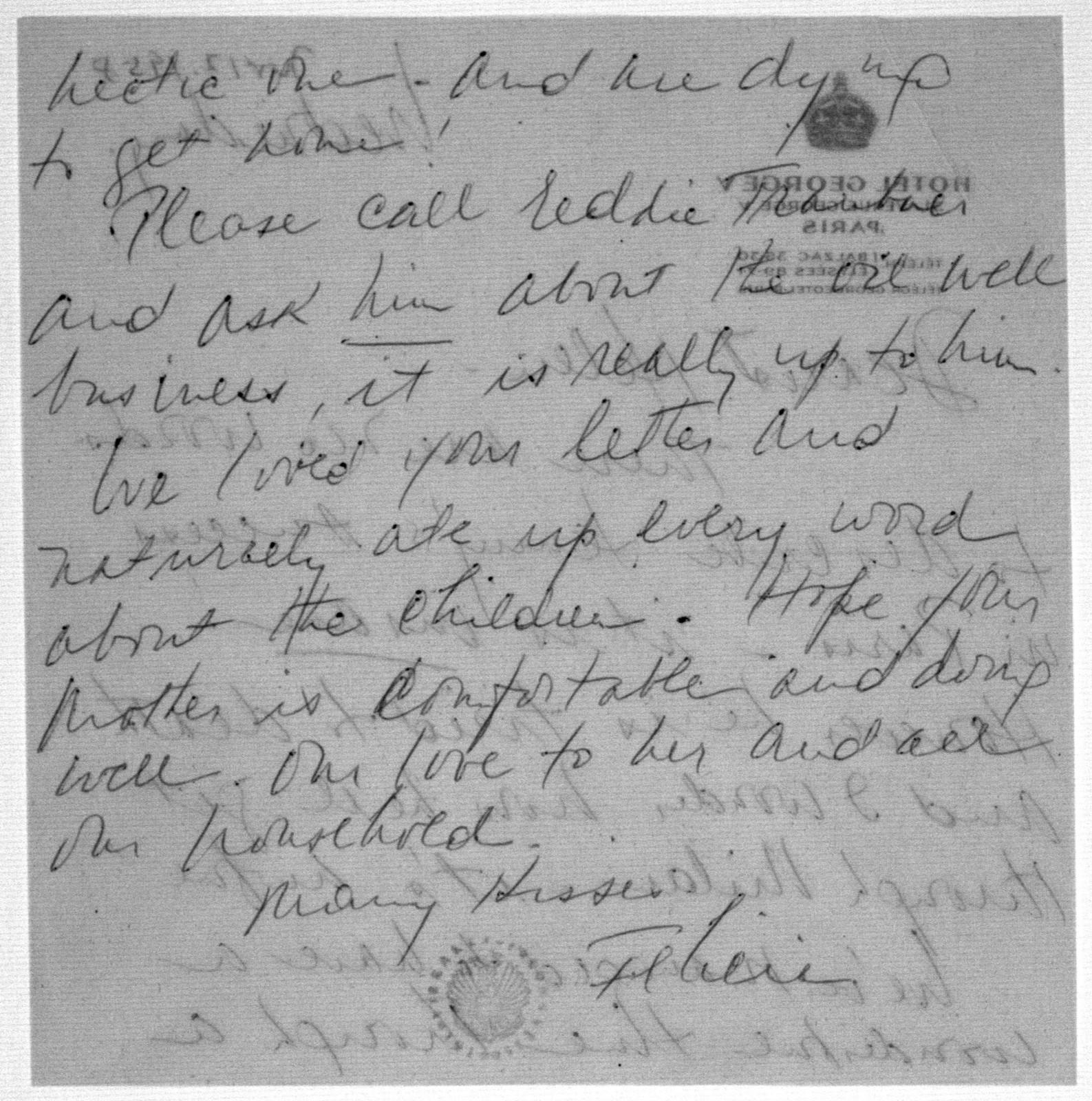 Letter from Felicia Bernstein to Helen Coates, November 12, 1958