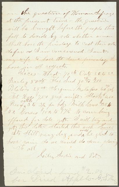 Letter from Giles S. Thomas to Thomas Family, September 17-24, 1882