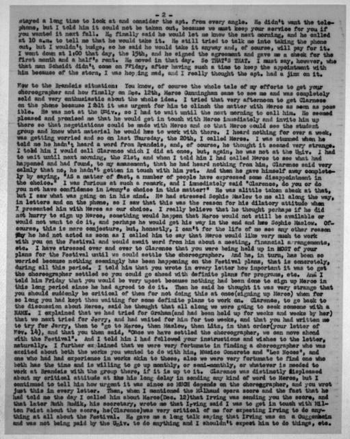 Letter from Helen Coates to Leonard & Felicia Bernstein, December 24, 1951