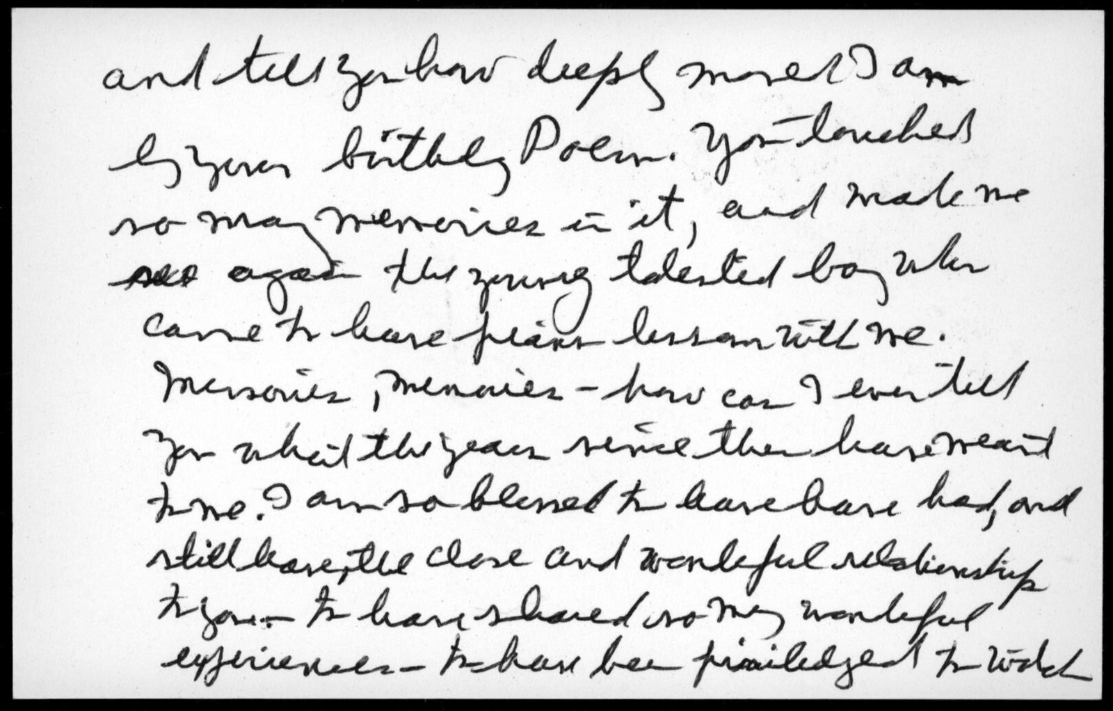 Letter from Helen Coates to Leonard Bernstein, July 22, 1985