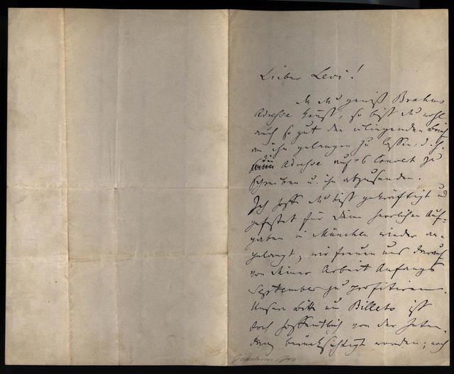 Letter from Joseph Joachim to Hermann Levi, 16 August