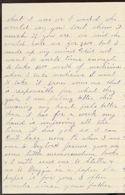 Letter from Laura I. Oblinger to Uriah W. Oblinger, June 12-18 1887