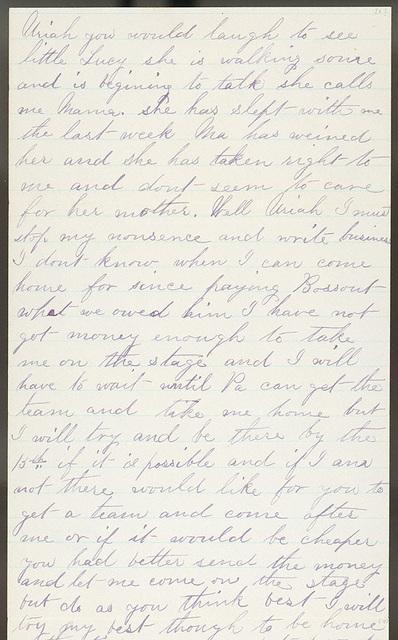 Letter from Laura I. Oblinger to Uriah W. Oblinger, June 4-6, 1882