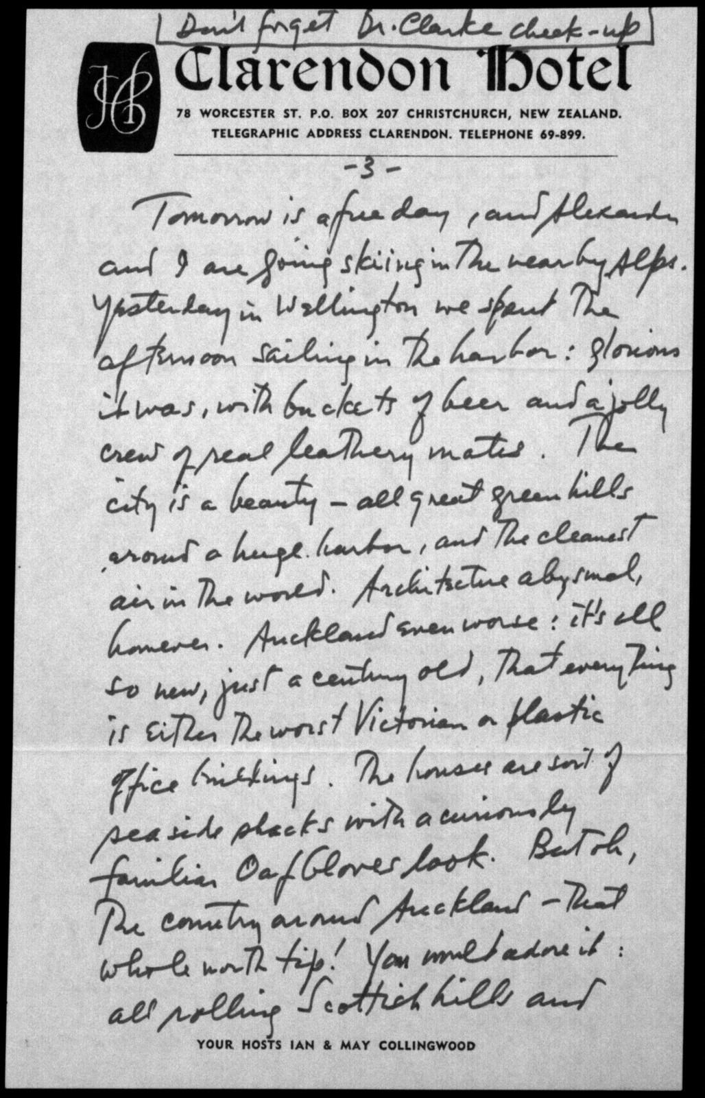 Letter from Leonard Bernstein to Felicia Bernstein, August 21, 1974
