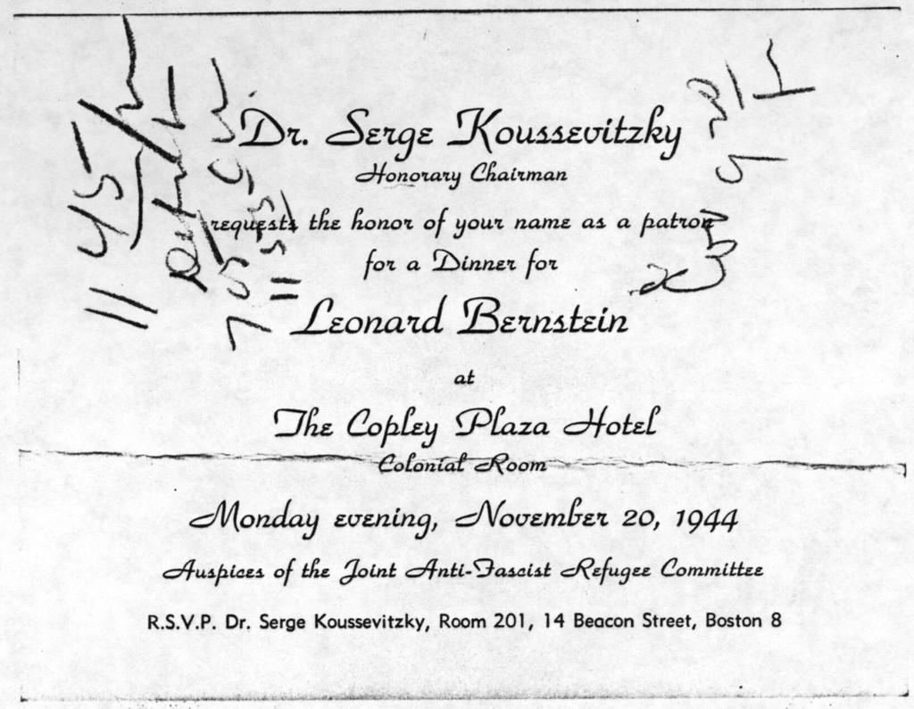 Letter from Leonard Bernstein to Gail Kelvin, October 23, 1944