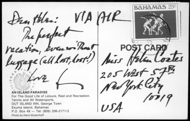 Letter from Leonard Bernstein to Helen Coates, 1985
