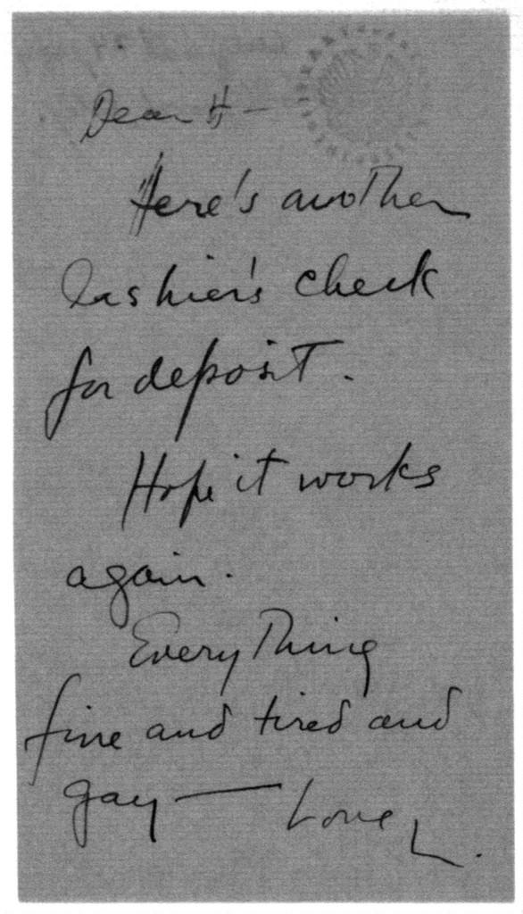 Letter from Leonard Bernstein to Helen Coates, August 24, 1944