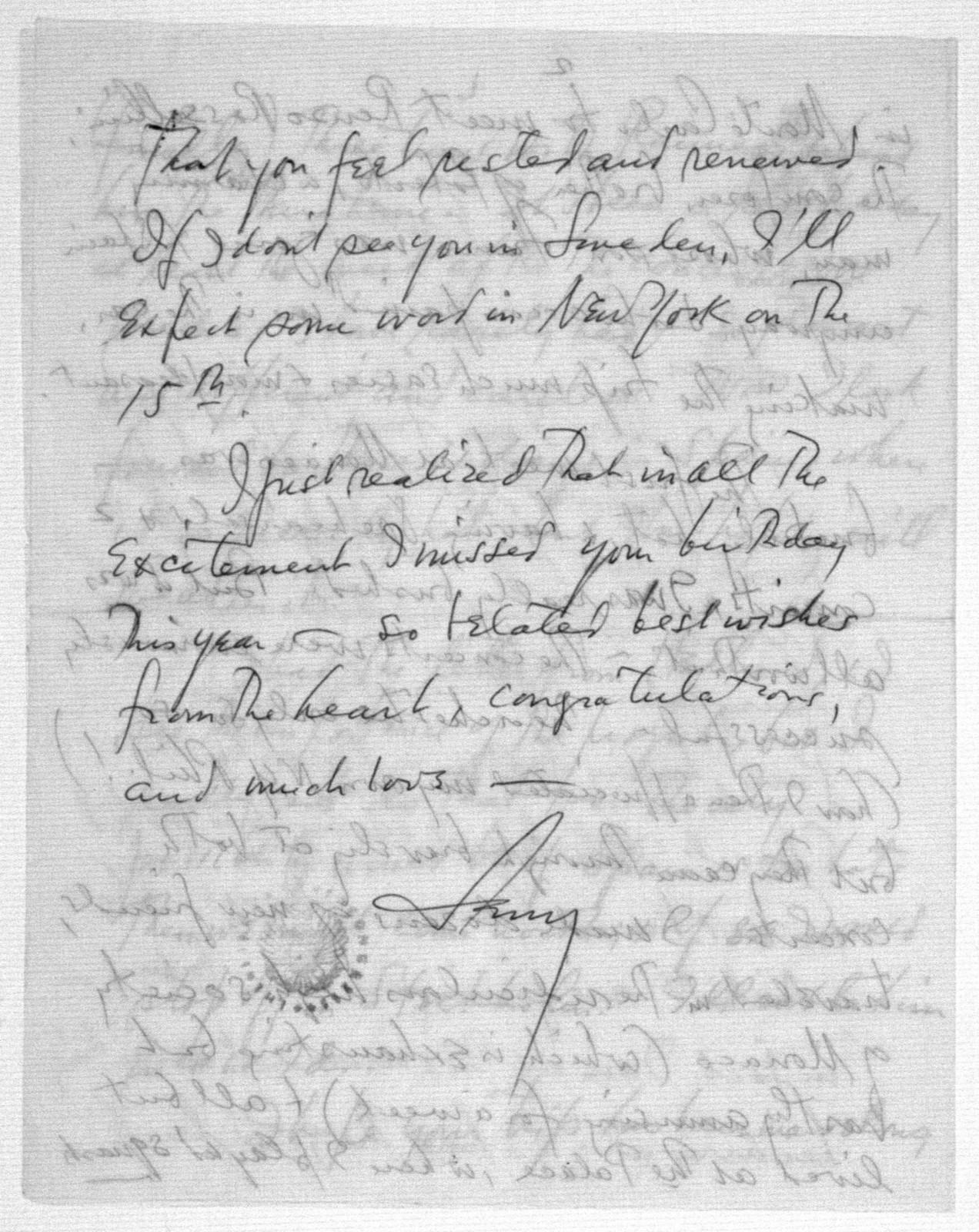 Letter from Leonard Bernstein to Helen Coates, August 3, 1962