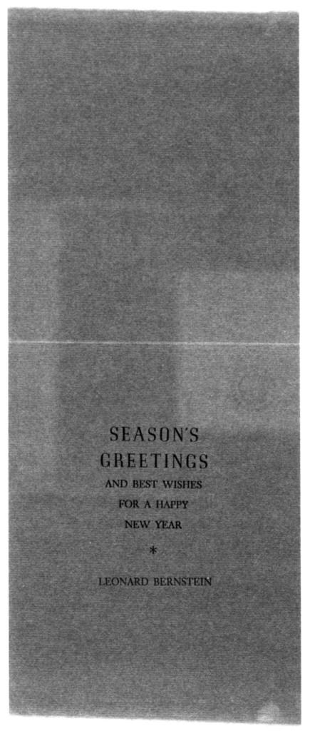 Letter from Leonard Bernstein to Helen Coates, December 1946