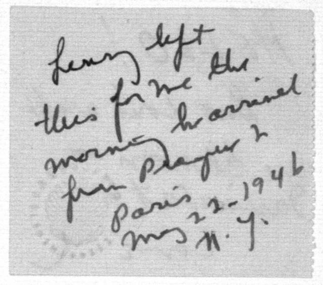 Letter from Leonard Bernstein to Helen Coates, May 22, 1946