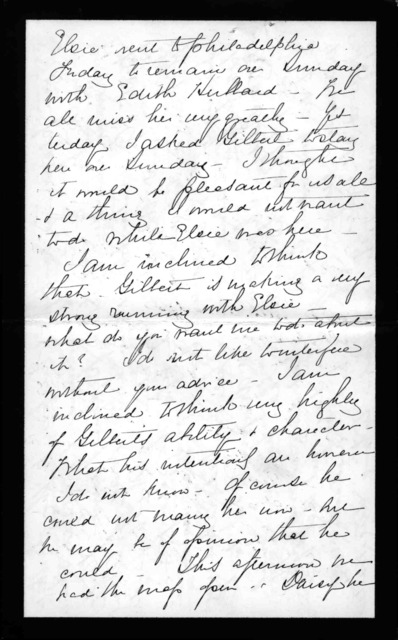 Letter from Mabel Hubbard Bell to Alexander Graham Bell, undated