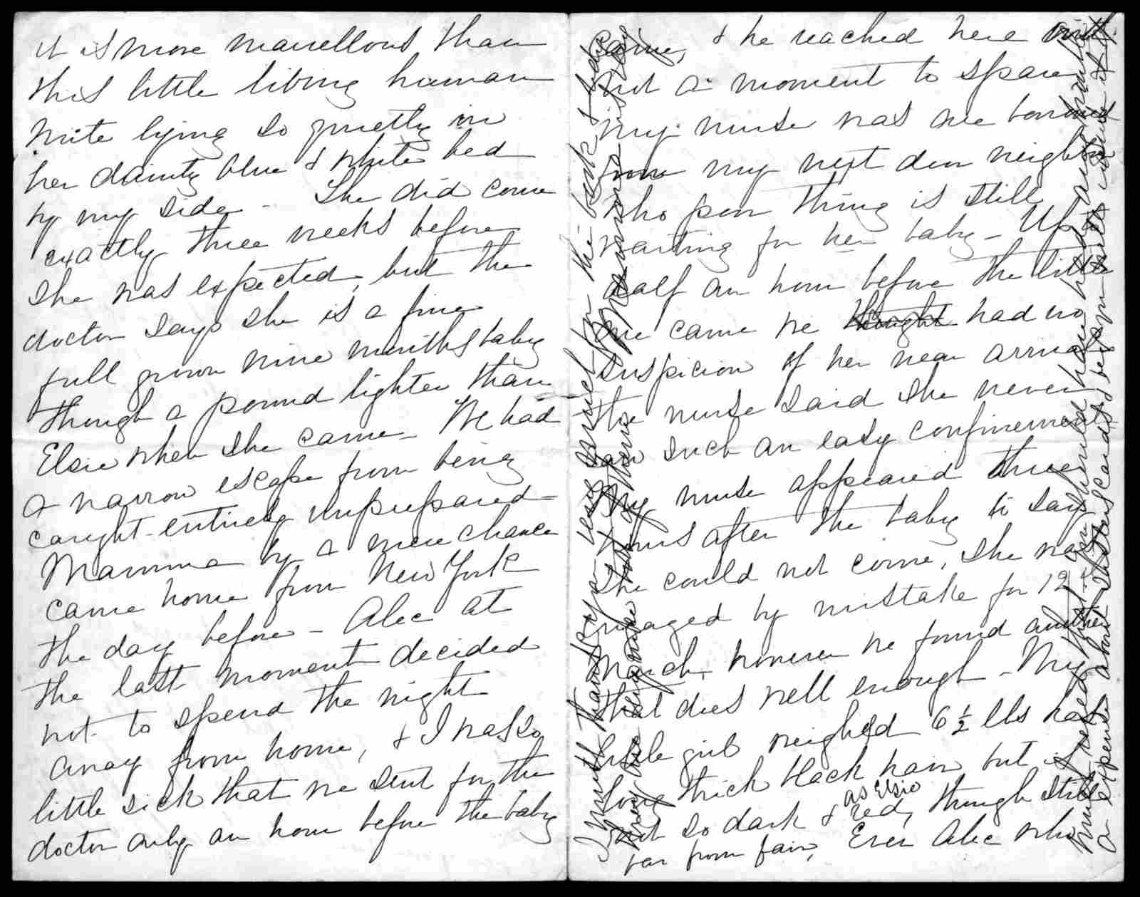 Letter from Mabel Hubbard Bell to Eliza Symonds Bell, undated