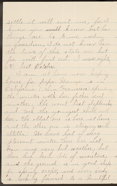 Letter from Maggie Oblinger to Charlie Thomas, February 9-13, 1896